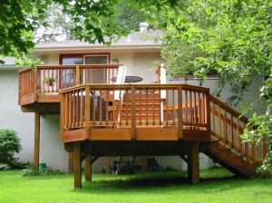 Deck investment Minneapolis After photo