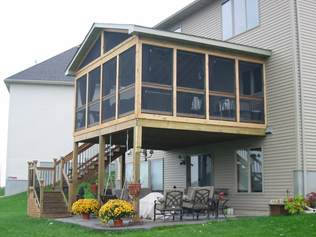 Screened porch or deck 5 important considerations in for House plans with decks