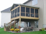 Twin Cities deck with screened porch