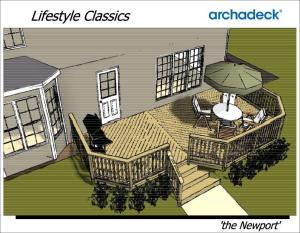 Archadeck Lifestyle Classics - Newport rendering